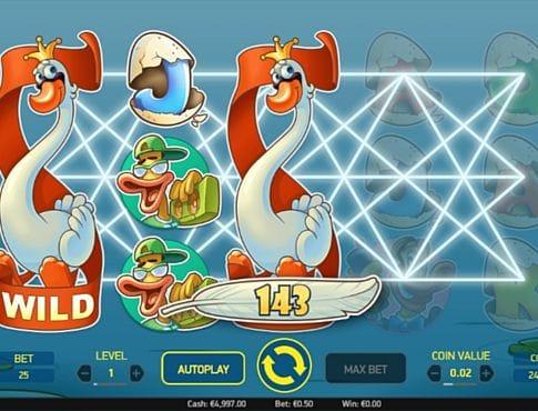 Призовая комбинация на линии в игровом автомате Scruffy Duck