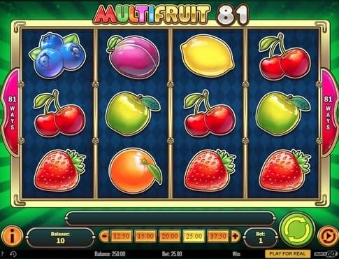 Барабаны слота Multifruit 81